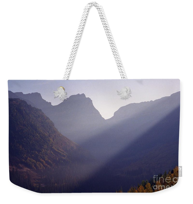 Mountains Weekender Tote Bag featuring the photograph Logan Pass by Richard Rizzo