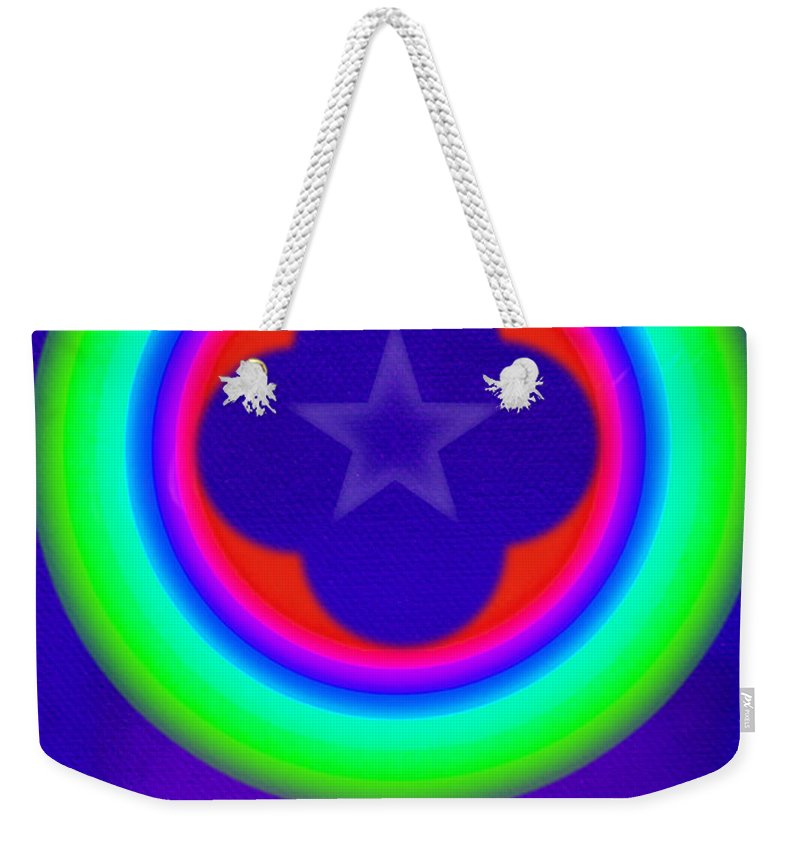 Abstract Weekender Tote Bag featuring the painting Logos by Charles Stuart