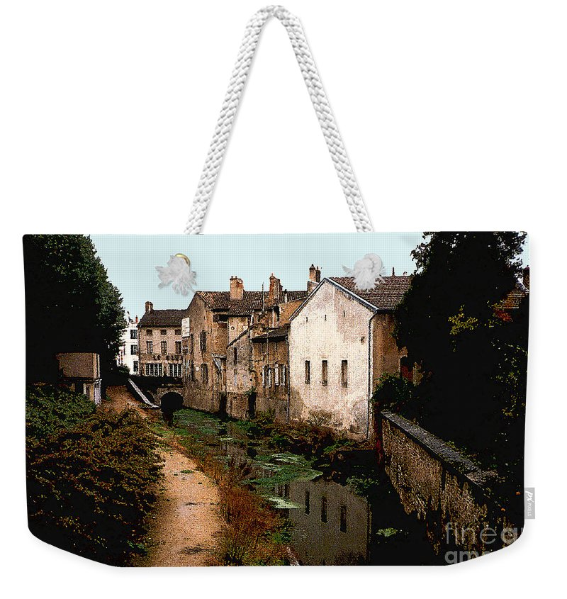 France Weekender Tote Bag featuring the photograph Loire Valley Village Scene by Nancy Mueller