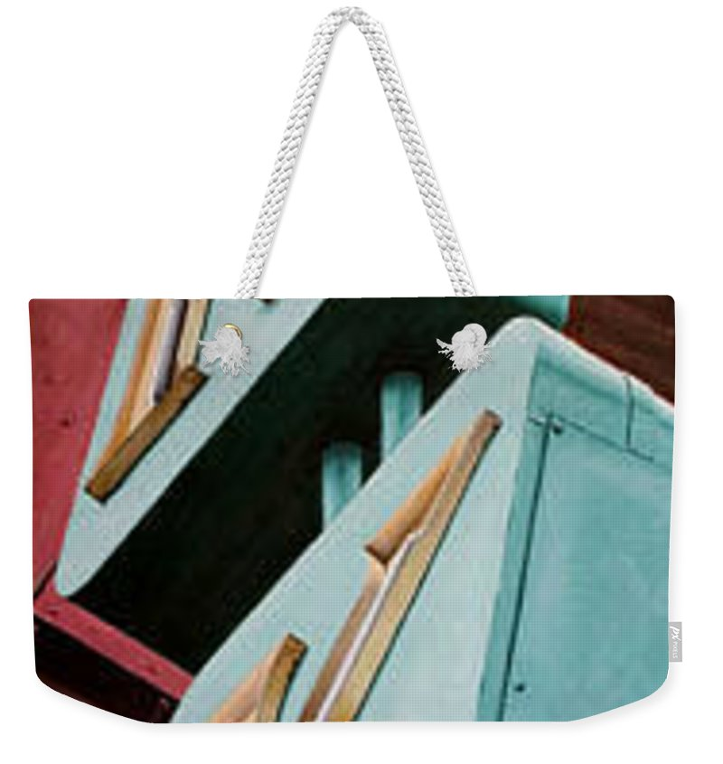 Neon Sign Weekender Tote Bag featuring the painting Lokke by Rob De Vries