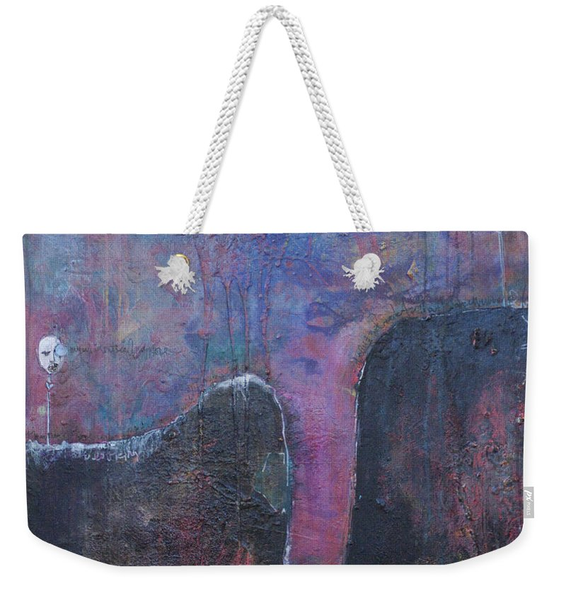 Laurie Maves Weekender Tote Bag featuring the painting Lollipop Love No. 2 by Laurie Maves ART