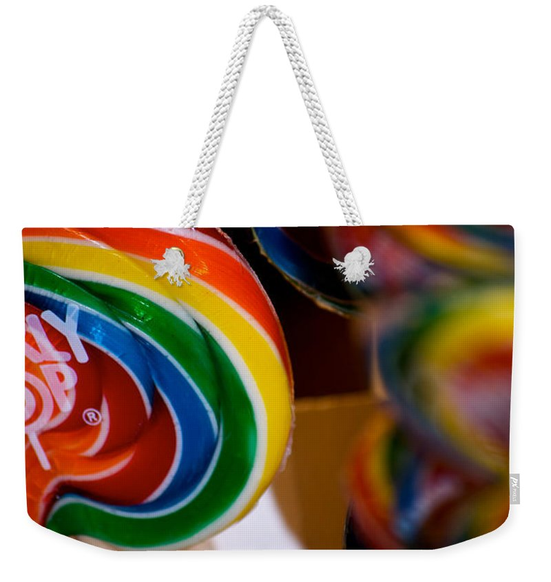 Lollipops Weekender Tote Bag featuring the photograph Lollipops by Lisa Knechtel