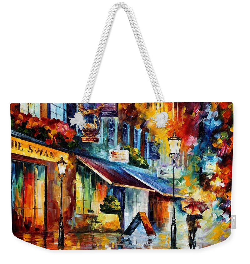 Afremov Weekender Tote Bag featuring the painting London - The Swan by Leonid Afremov
