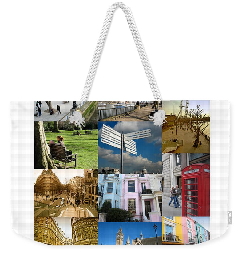 London Weekender Tote Bag featuring the photograph London by Madeline Ellis