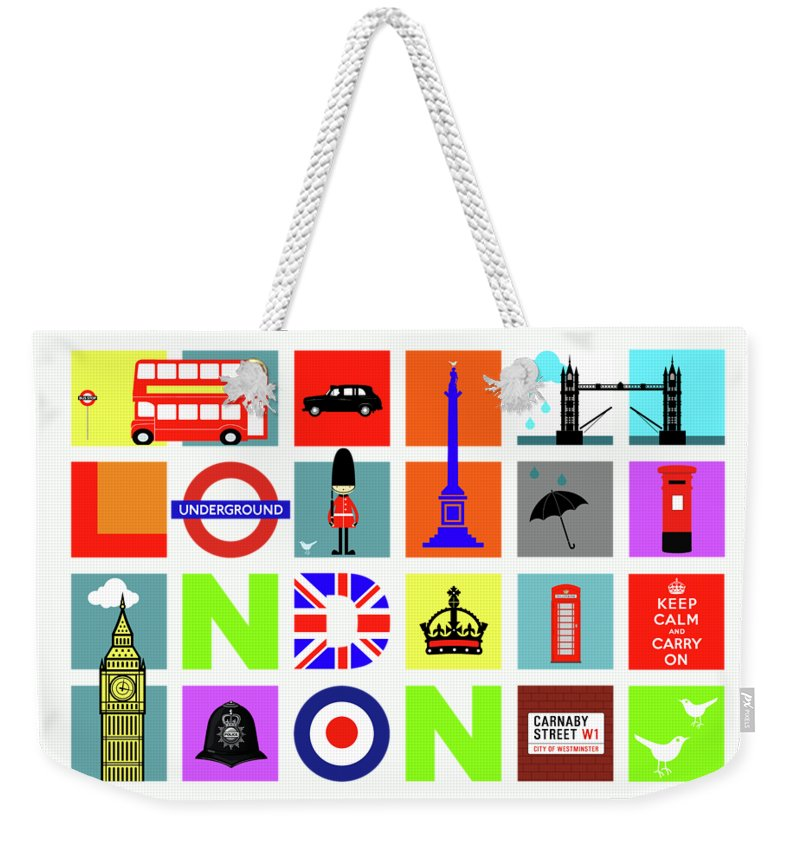 London Tube Weekender Tote Bags