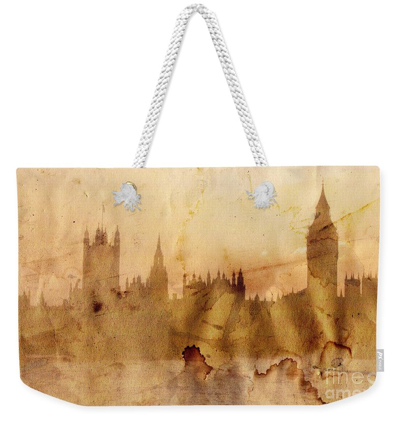 London Weekender Tote Bag featuring the painting London by Michal Boubin