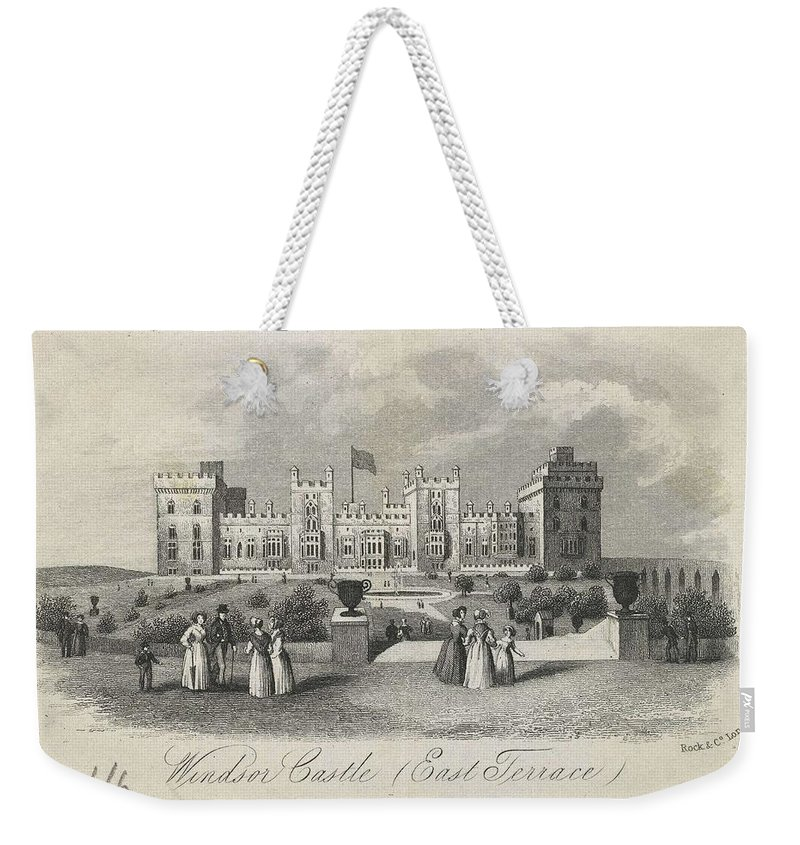 Nature Weekender Tote Bag featuring the painting London Windsor Castle East Terrace, The Queen's Private Apartments by Artistic Rifki