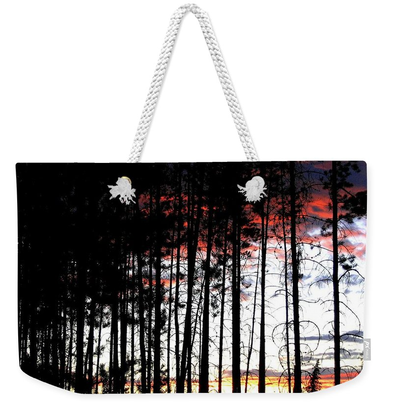 Sunset Weekender Tote Bag featuring the photograph Lone Butte Sunset by Will Borden