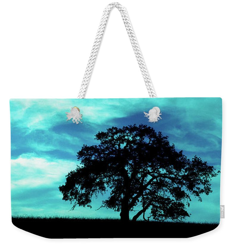 Oak Weekender Tote Bag featuring the photograph Lone Oak by Jim And Emily Bush