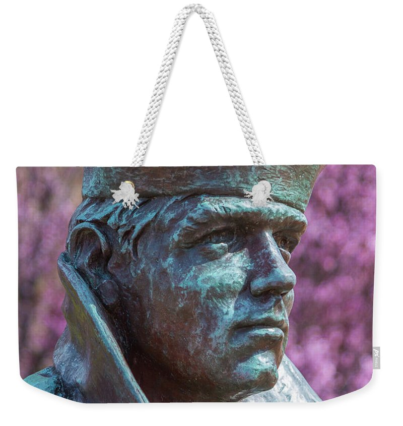 Downtown Norfolk Weekender Tote Bag featuring the photograph Lone Sailor In Color by Heiko DeWees