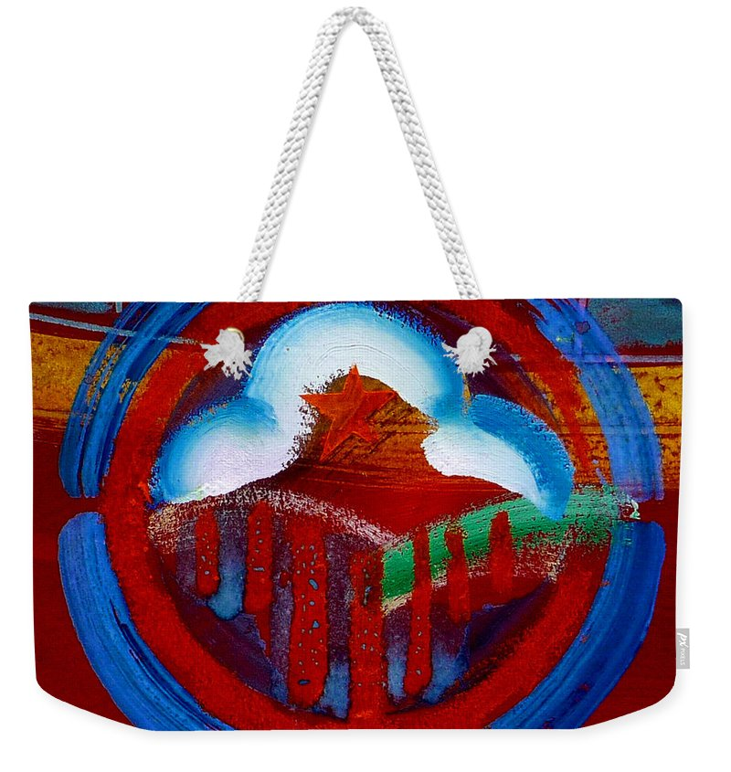 Star Weekender Tote Bag featuring the painting Lone Star State by Charles Stuart