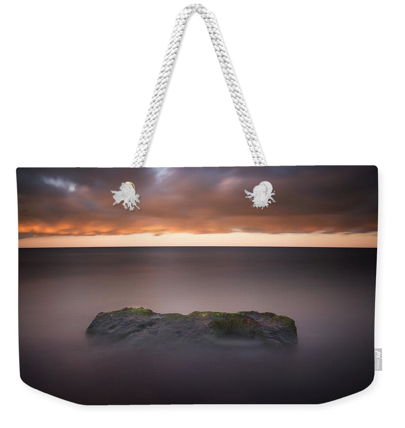 3scape Weekender Tote Bag featuring the photograph Lone Stone At Sunrise by Adam Romanowicz