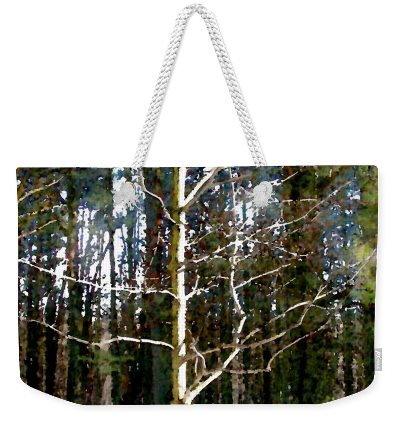 Trees Weekender Tote Bag featuring the painting Lone Tree by Paul Sachtleben