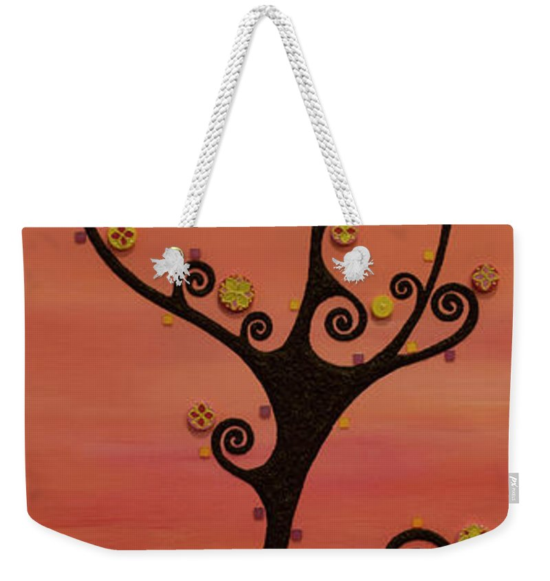 Tree Weekender Tote Bag featuring the mixed media Loneliness by Francesca Colantoni