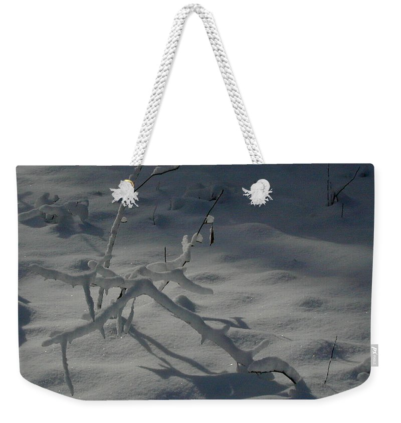 Loneliness Weekender Tote Bag featuring the photograph Loneliness In The Cold by Douglas Barnett