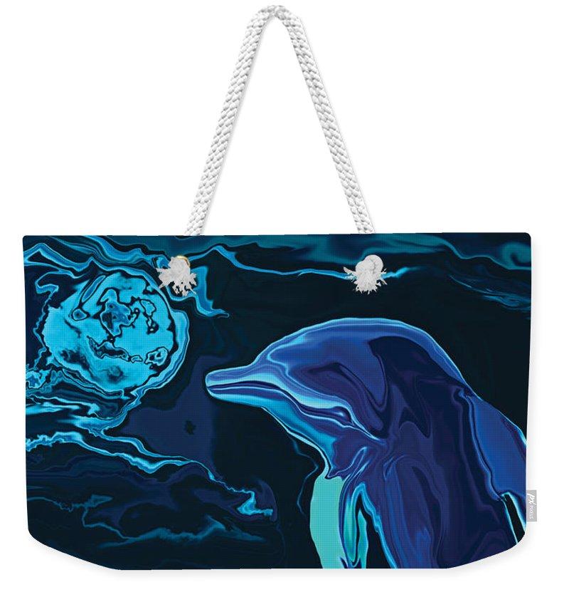 Animal Weekender Tote Bag featuring the digital art Lonely Tonight by Rabi Khan