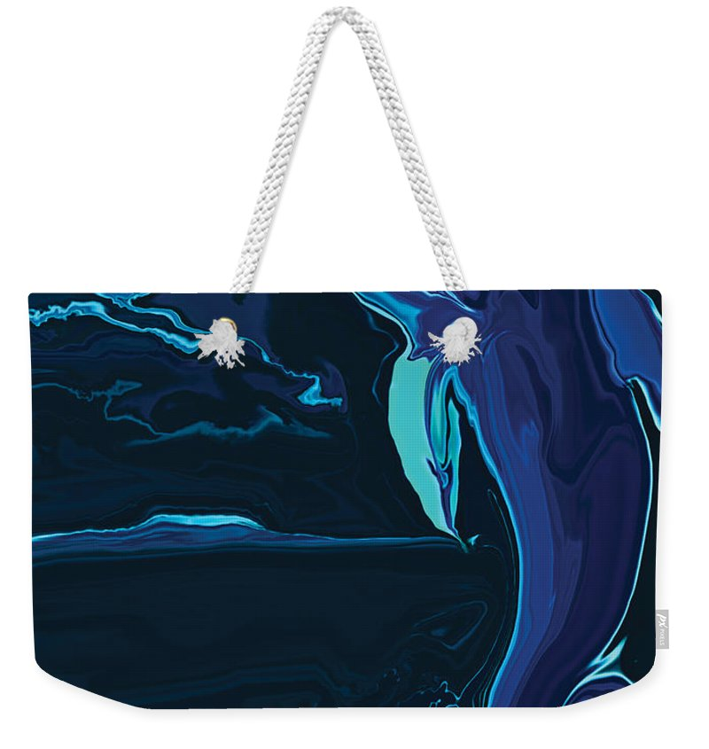 Animal Weekender Tote Bag featuring the digital art Lonely Tonight by Rabi Khan