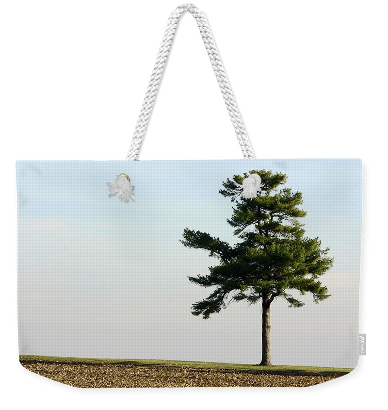 Abstract Weekender Tote Bag featuring the photograph Lonesome Fir by Alan Look