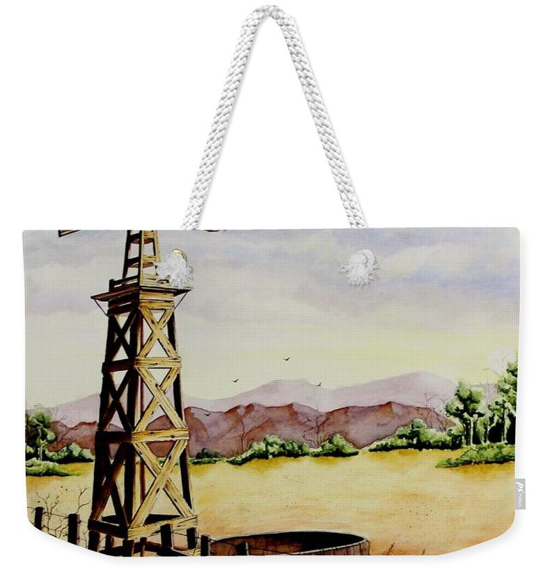 Actor Weekender Tote Bag featuring the painting Lonesome Prairie by Jimmy Smith
