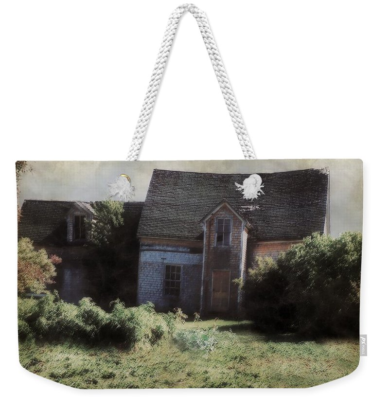 Landscape Weekender Tote Bag featuring the painting Long Ago And Far Away by RC DeWinter