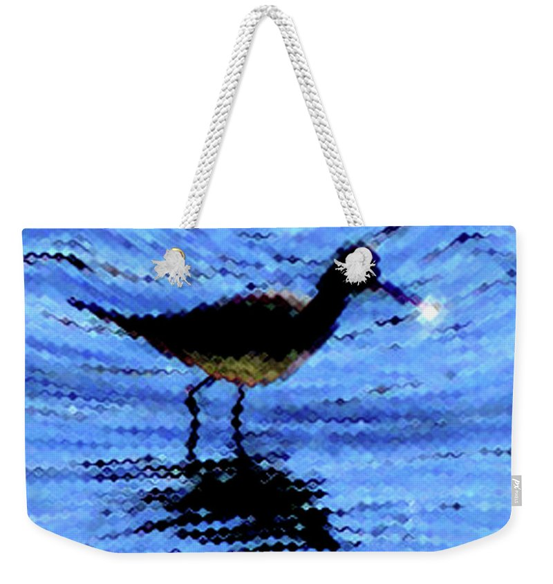 Bird Weekender Tote Bag featuring the photograph Long-billed Diwitcher by Donna Brown