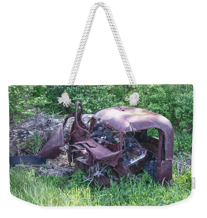 Automobile Weekender Tote Bag featuring the photograph Long Forgotten 2808 by Guy Whiteley
