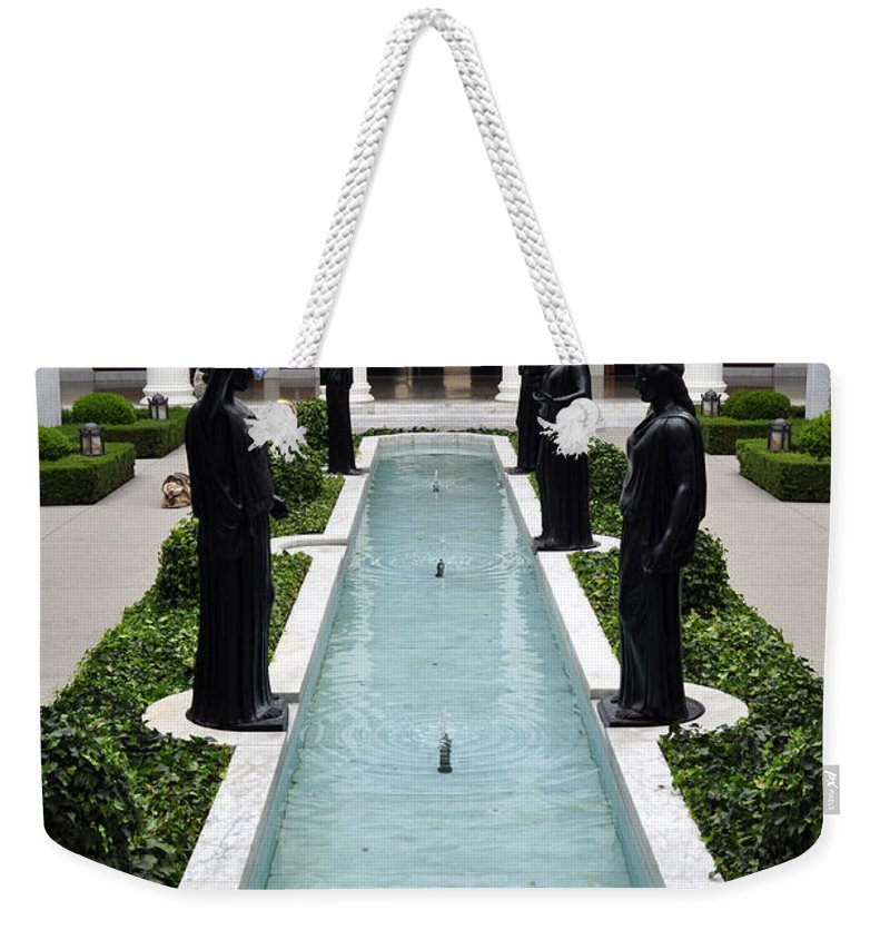 Clay Weekender Tote Bag featuring the photograph Long Fountain by Clayton Bruster