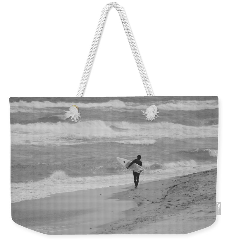 Black And White Weekender Tote Bag featuring the photograph Long Walk Home by Rob Hans