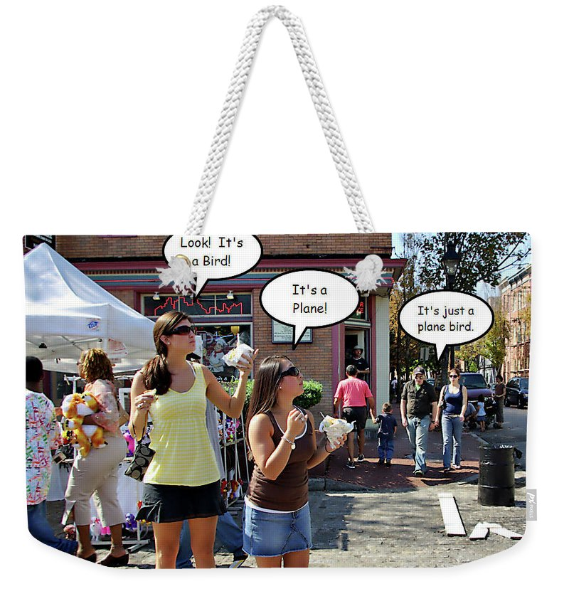2d Weekender Tote Bag featuring the photograph Look Up In The Sky by Brian Wallace