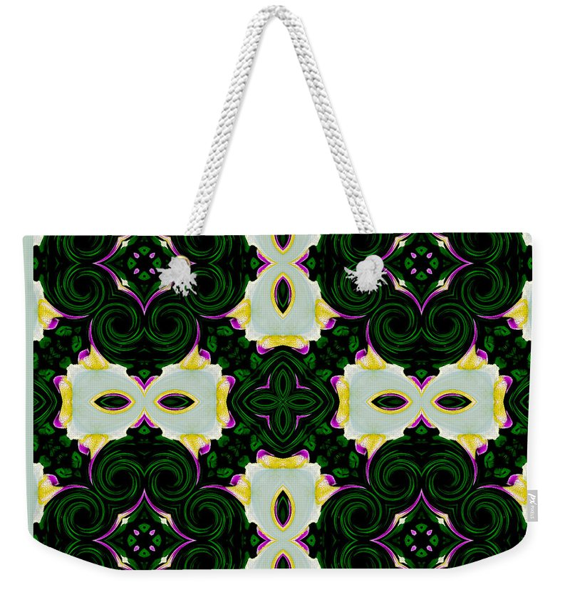 Abstract Weekender Tote Bag featuring the digital art Looking Closely by Debra Lynch