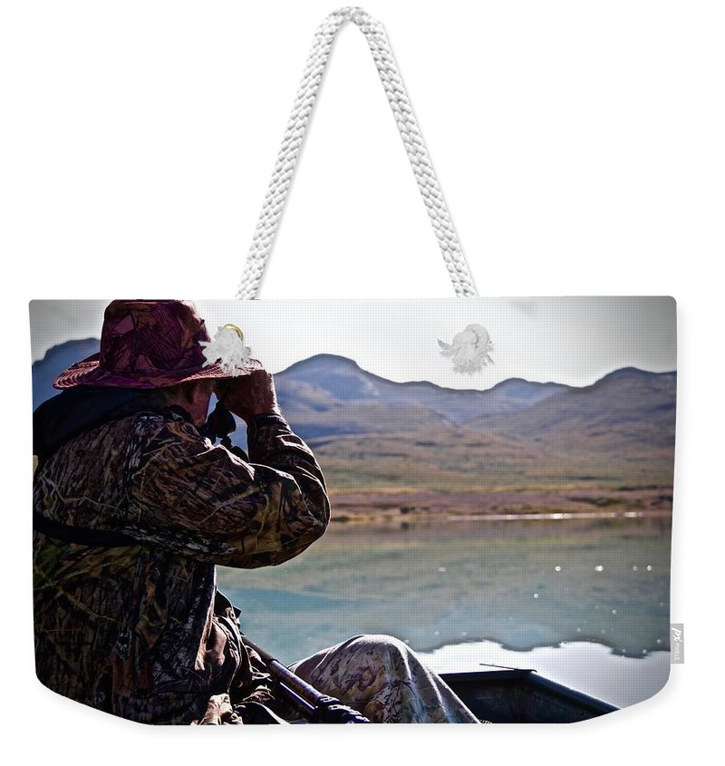 Landscape Weekender Tote Bag featuring the photograph Looking For Musk Ox In Greenland by Allan Iversen