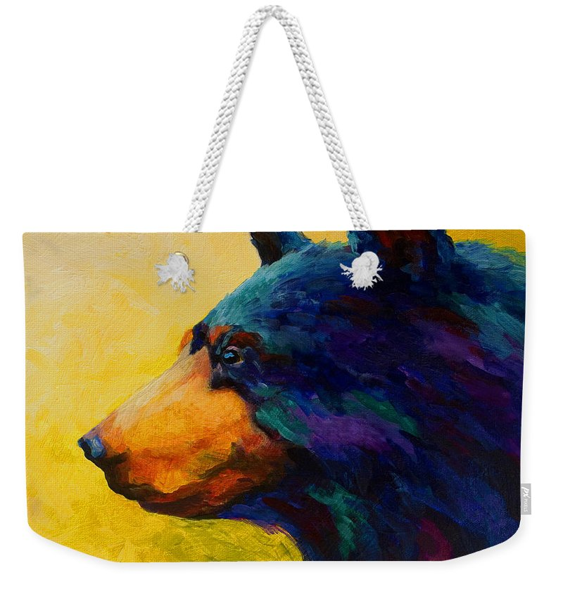 Bear Weekender Tote Bag featuring the painting Looking On II - Black Bear by Marion Rose