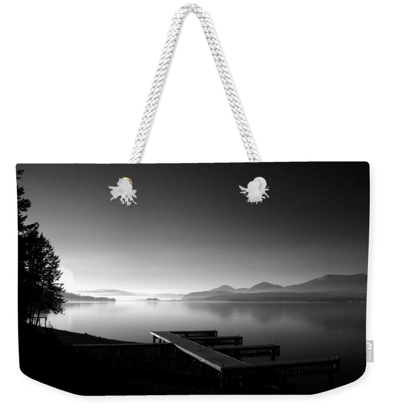 Landscape Weekender Tote Bag featuring the photograph Looking West From 41 South by Lee Santa