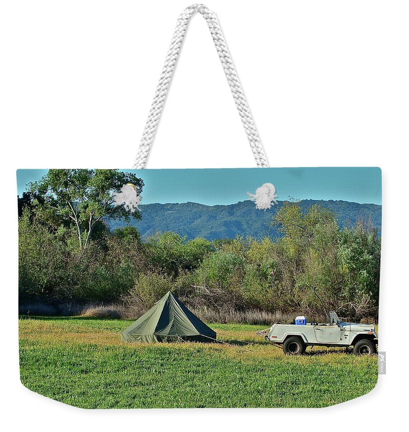 Country Weekender Tote Bag featuring the photograph Looks Like Fun by Diana Hatcher