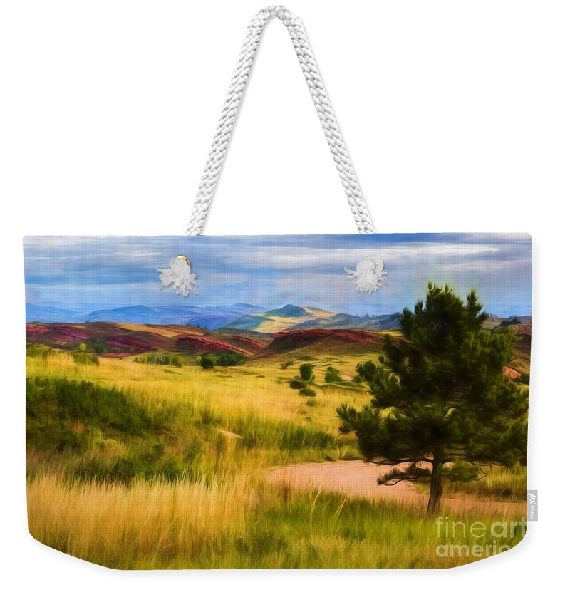 Lory State Park Weekender Tote Bag featuring the photograph Lory State Park Impression by Jon Burch Photography