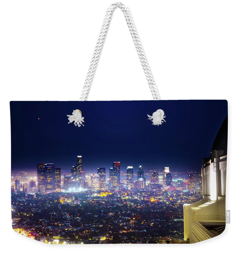 California Weekender Tote Bag featuring the photograph Los Angeles By Night by Mark Andrew Thomas