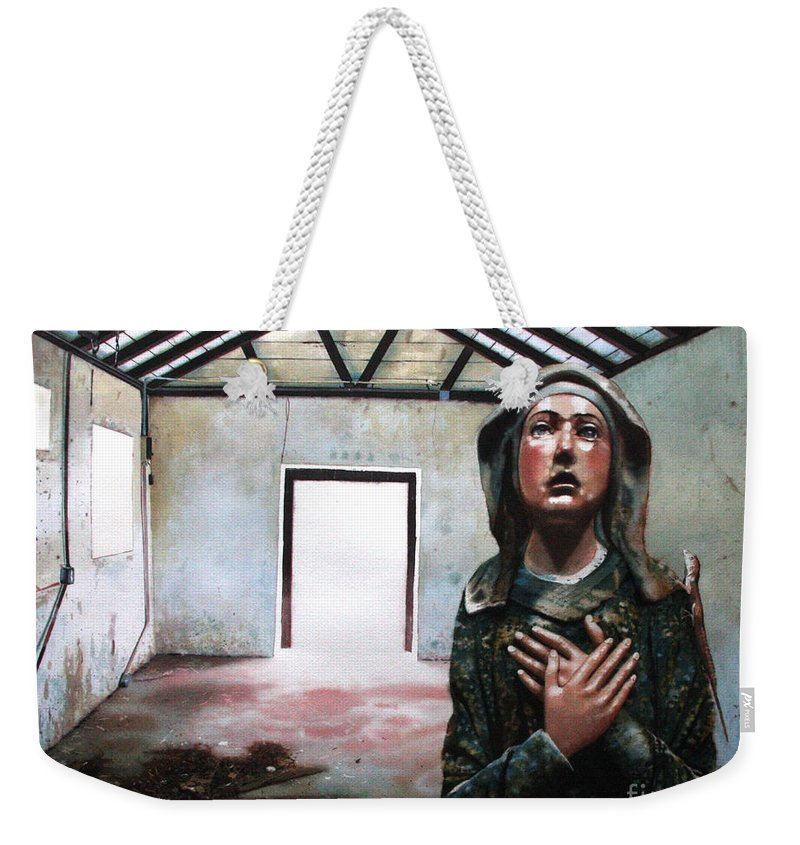 Icon Weekender Tote Bag featuring the painting Losing My Religion by Denny Bond