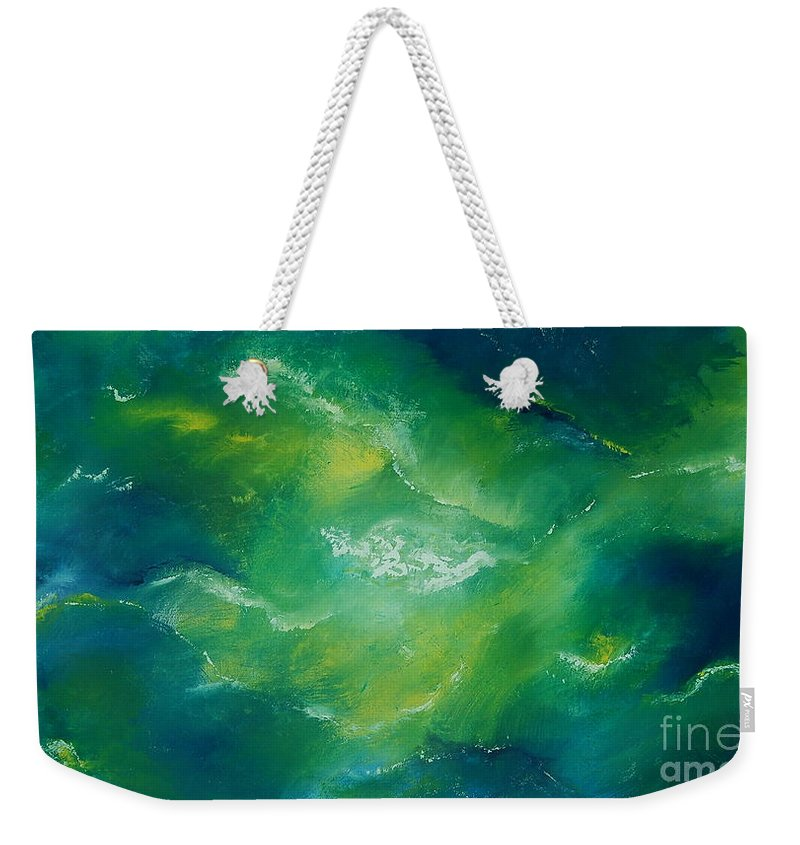 Sea Weekender Tote Bag featuring the painting Lost At Sea by Tamyra Crossley