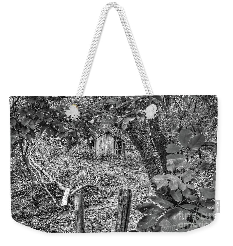 Barn Weekender Tote Bag featuring the photograph Lost Barn B by John Myers