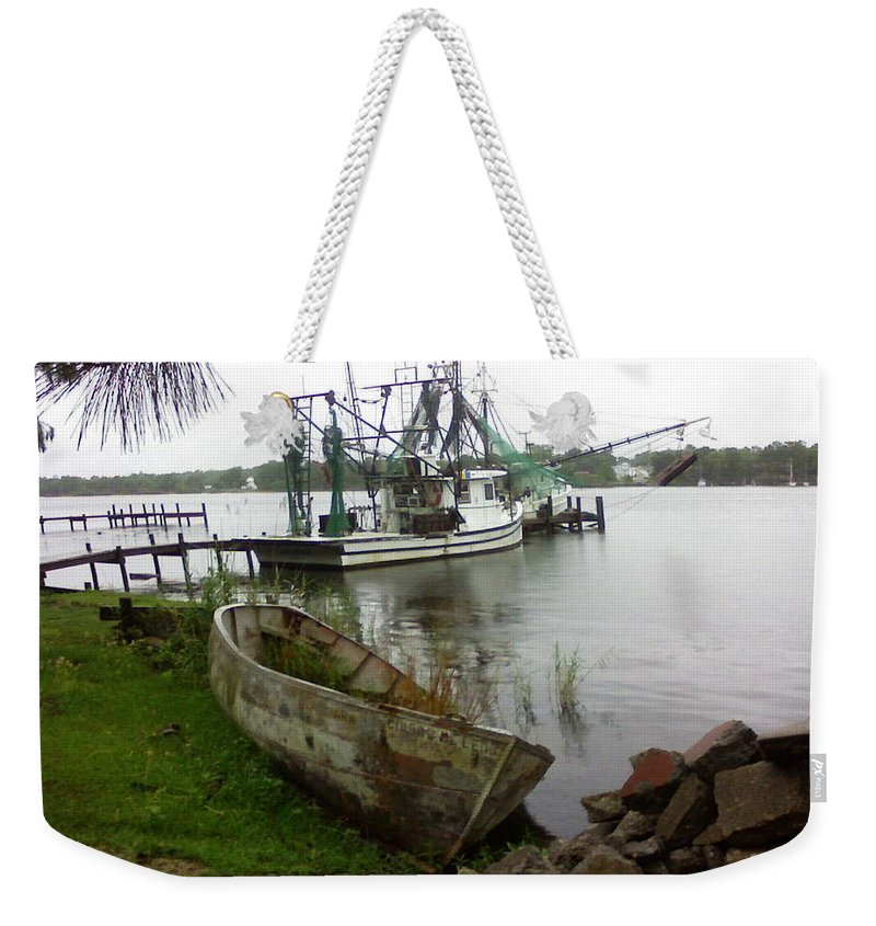 Boat Weekender Tote Bag featuring the photograph Lost Boat by Patricia Caldwell