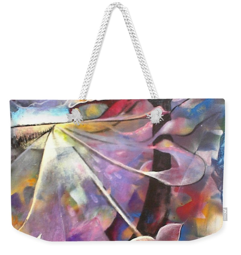 Abstract Weekender Tote Bag featuring the painting Lost Butterflys by Jan VonBokel