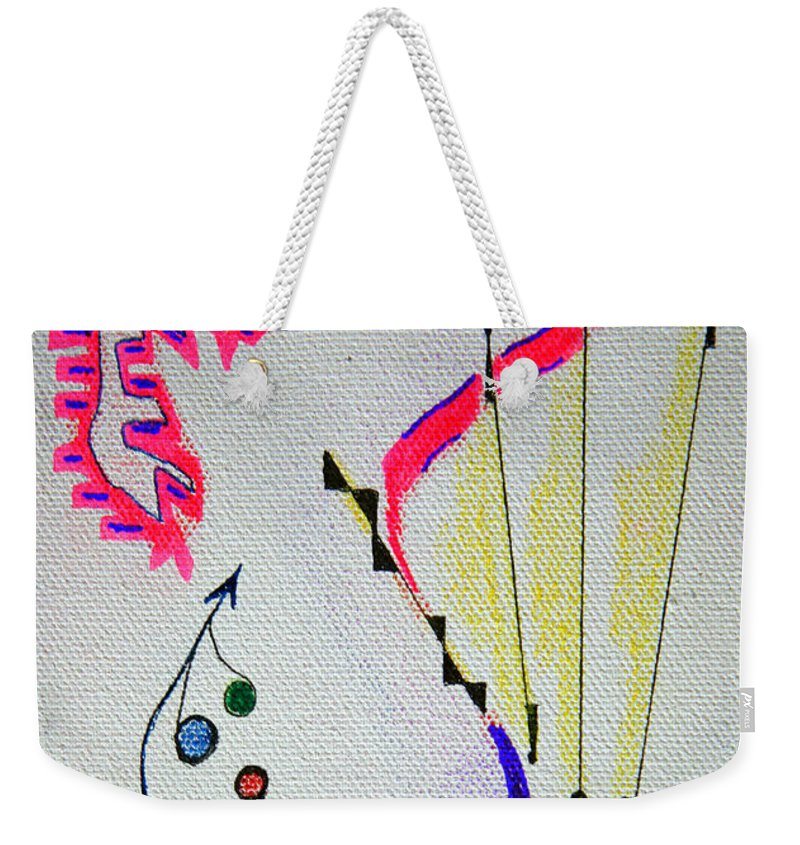 Abstract Weekender Tote Bag featuring the mixed media Lost Directions by J R Seymour