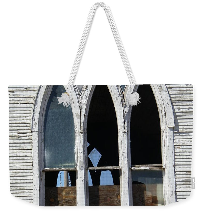 Church Weekender Tote Bag featuring the photograph Lost by Gale Cochran-Smith
