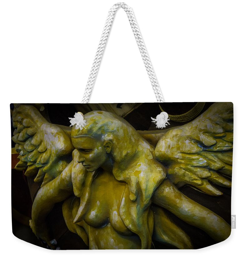 Lost Weekender Tote Bag featuring the photograph Lost Golden Angel by Garry Gay