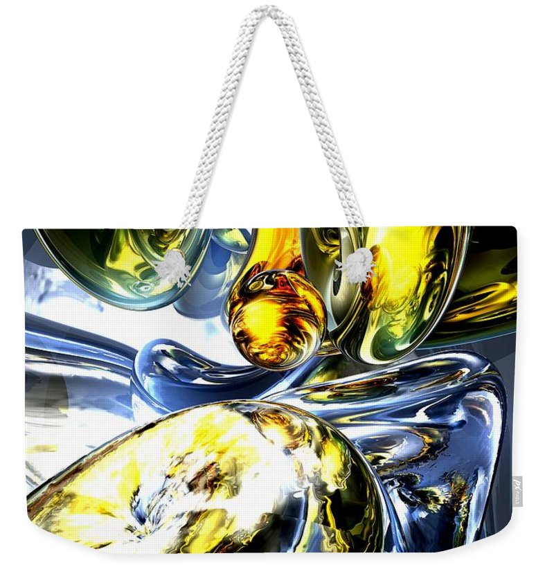 3d Weekender Tote Bag featuring the digital art Lost In Space Abstract by Alexander Butler