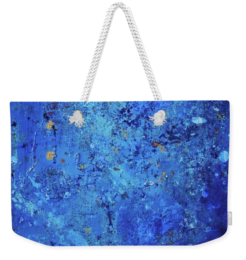 Space Weekender Tote Bag featuring the painting Lost In Space by Margaret Fronimos