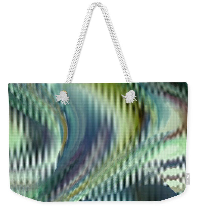 Abstract Weekender Tote Bag featuring the digital art Lost In The Moment by Ruth Palmer