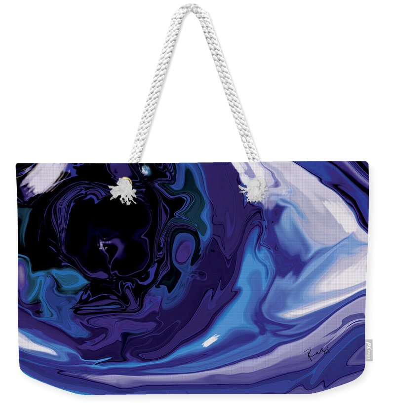 Blue Weekender Tote Bag featuring the digital art Lost-in-to-the-eye by Rabi Khan