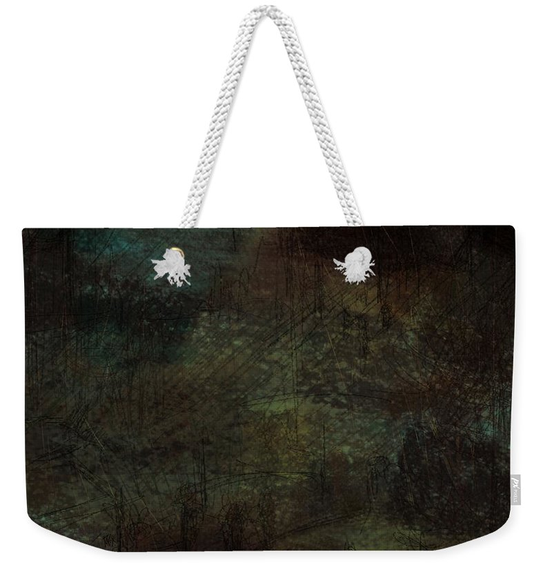 Abstract Weekender Tote Bag featuring the digital art Lost Memories by Rachel Christine Nowicki