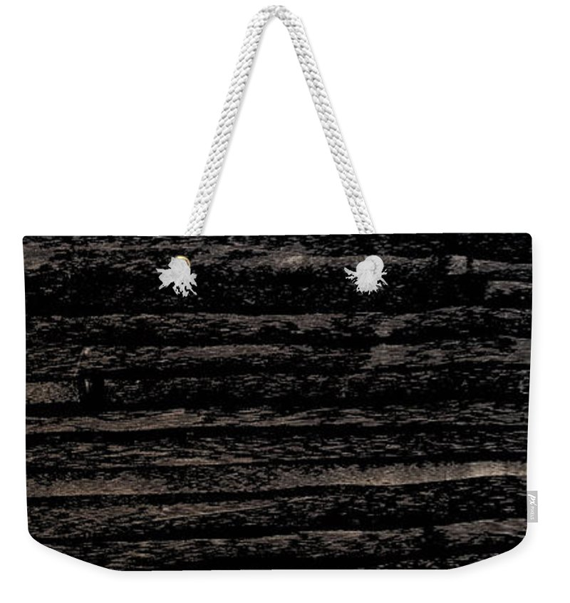 Charcoal Weekender Tote Bag featuring the mixed media Lost by Nour Refaat